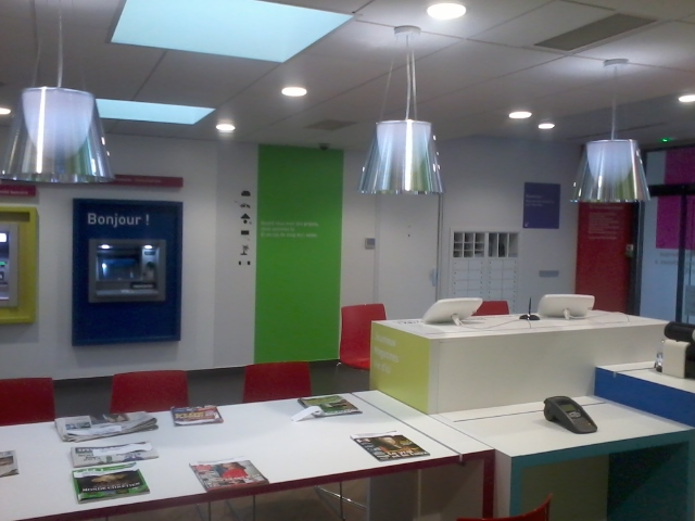 installations courants forts dans banque